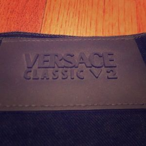 V2 Versace Classic Cropped Relaxed Jeans